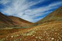 Верхнее турундинское озеро и подъем на перевал 2480
