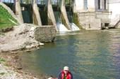 Первая плотина ГЭС и первый обнос, всего их было 5