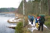 Первый лед на озере