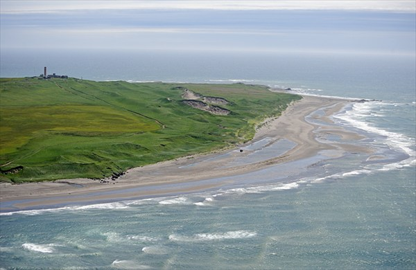 Lighthouse on Lopatka Cape