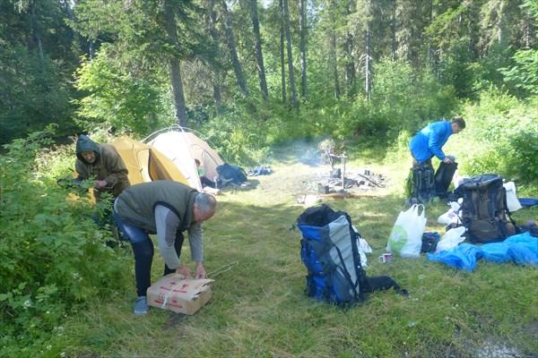 Разбивка лагеря (р. Ауспия)