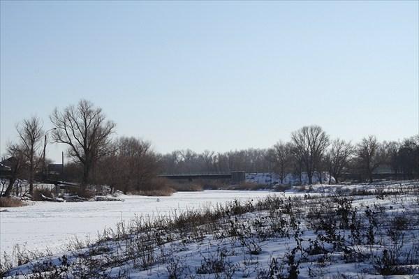 Вид на станичный мост.
