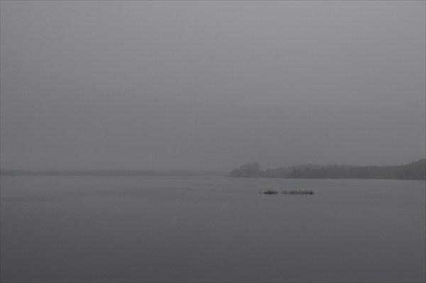 Утреннее Шотозеро в тумане