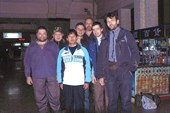 Команда и хэлпер, который помогал с покупкой билетов в Лхасу