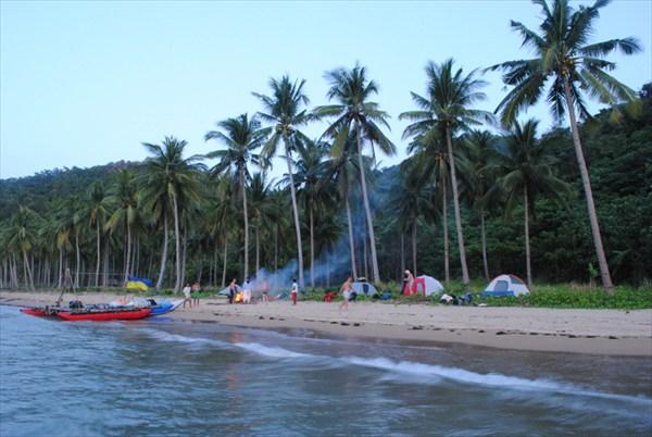 Ночовка на пляже