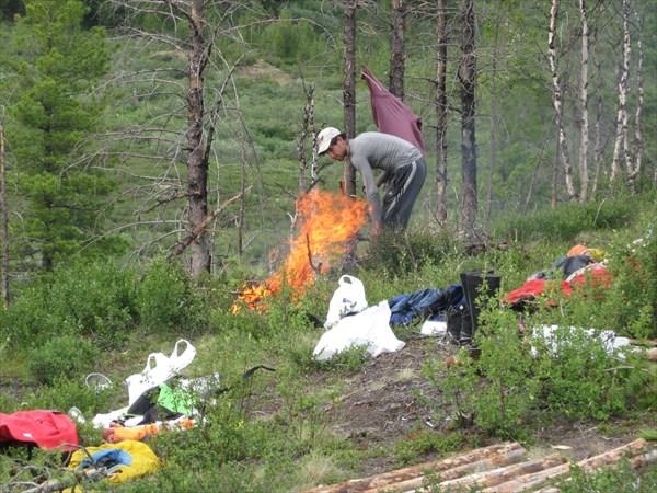 Илья играет с огнём