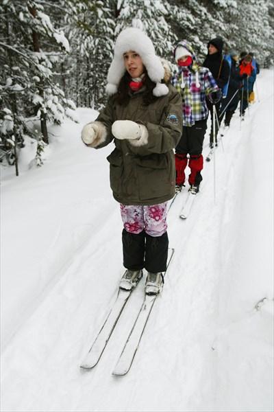 А кто-то шёл без лыжных палок...
