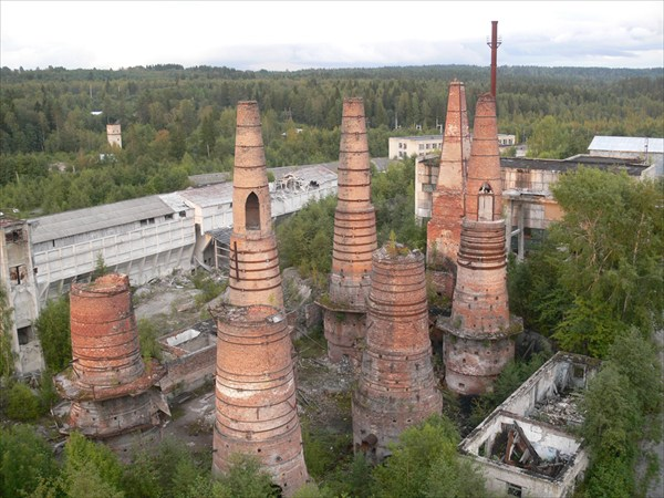 Печи для обжига старого мраморного завода