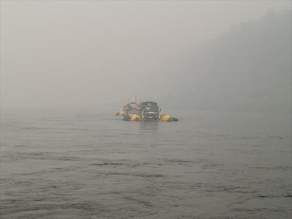 Близкий берег в дымке