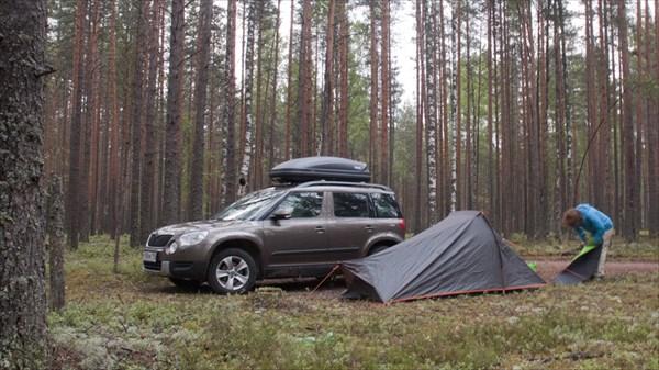 Ночевка близ финской границы.