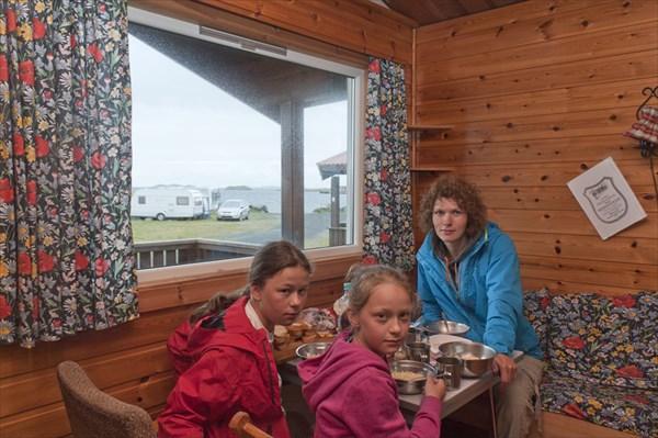 Кемпинг Bud. Small cabin. 400 NOK per night.