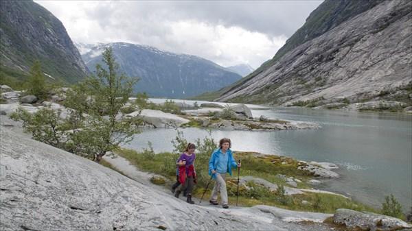 На подходе к леднику Nigardsbreen