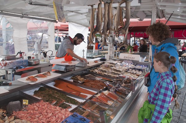 Берген. Рыбный рынок