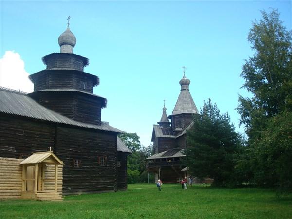 Ярусная церковь Николы и церковь рождества Богородицы