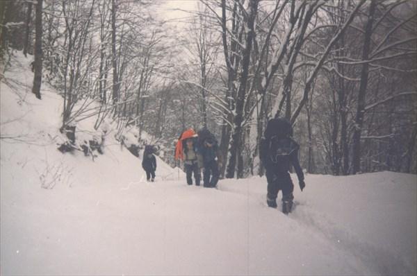 11. 31.01.1997 первый день заброски. Скоро пойдёт снег.