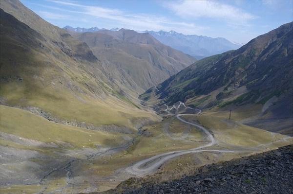 Серпантины подъема на Банский перевал
