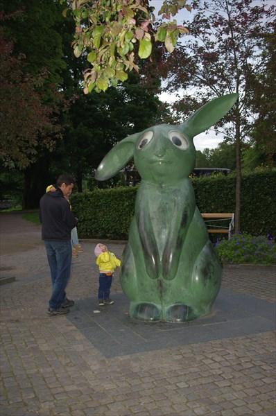 Зеленый зайчик