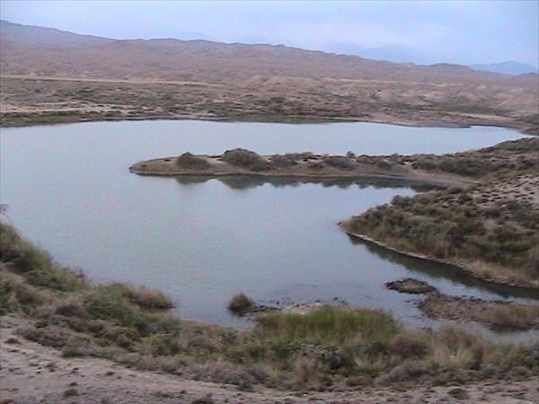 Соленое озеро Каракель