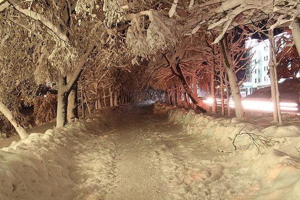 Зимний Петропавловск-Камчатский.