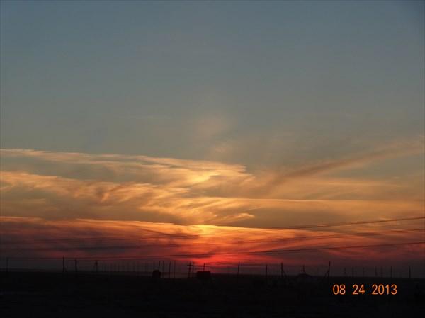 Закат над Атырау.