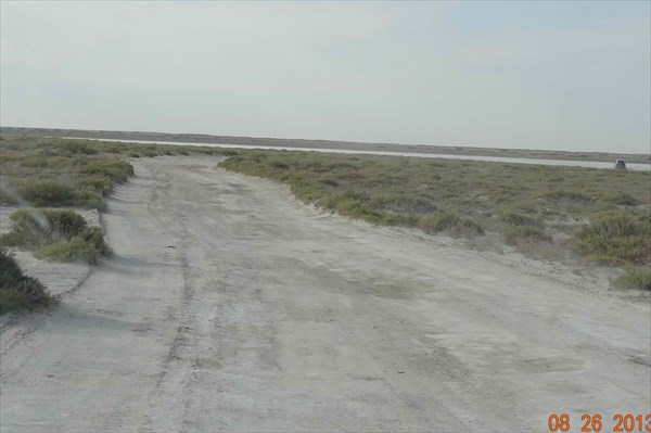 Дорога по дну Арала.