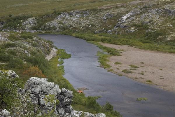 Конец нижнего  белого каньона.