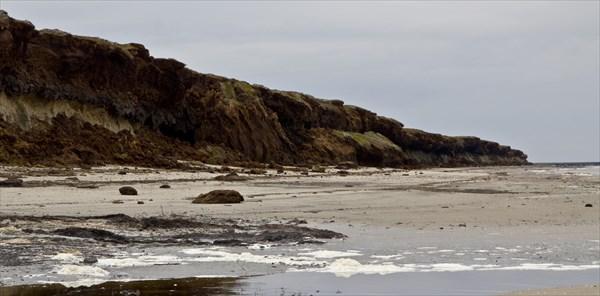 Куски тундры падают в море