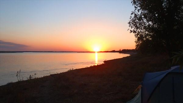 Закат солнца.