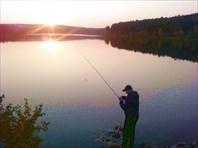 Закат на Дегтярском пруду