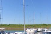 Часть эскадры яхтклуба. Яхта `Анна`.