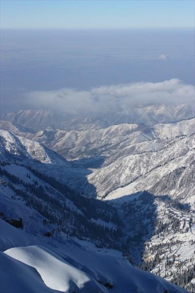 Алматы с 4000 метров.