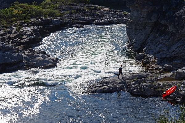 Каньон Ния-Ю, порог №3, первая ступень