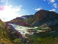 Каньон Ния-Ю, порог №5, ступень 1, вид с левого берега