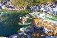 Каньон Ния-Ю, порог №5, ступень 1, вид с правого берега