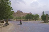 Вид на бывший дворец Амина.