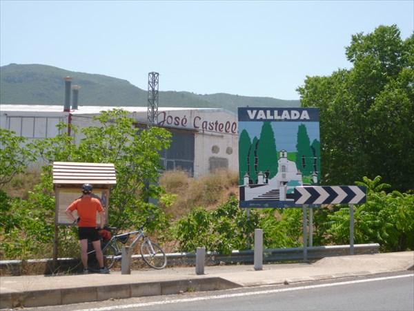 На въезде в Vallada