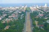 Вид на Гавану со смотровой площадки в мемориале Хосе Марти
