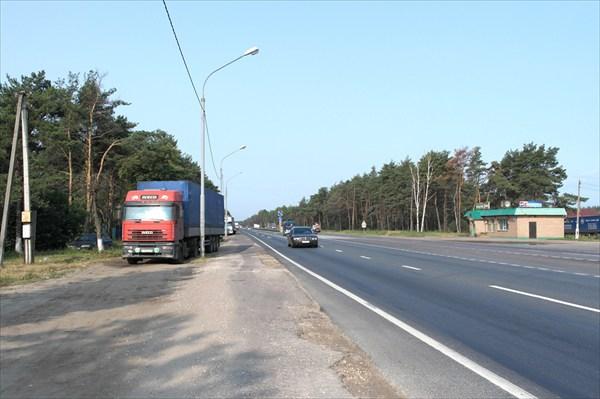 Трасса перед поворотом на Орехово-Зуево