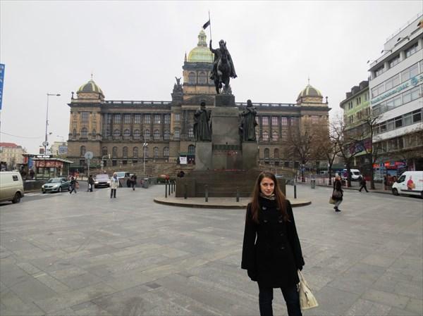 Памятник Святому Вацлаву 1924 и Национальный музей 1890, Прага