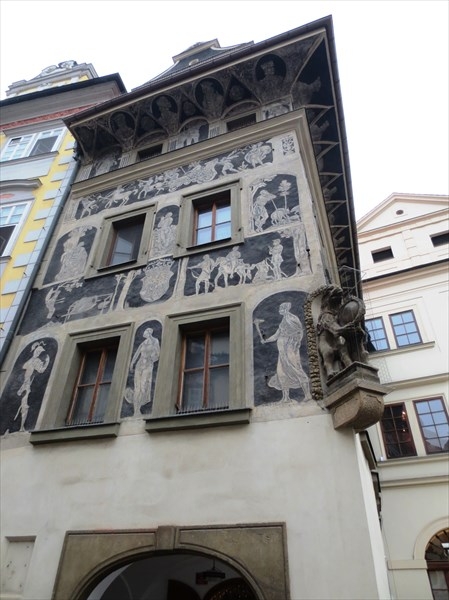 Расписной дом Вацлавская площадь