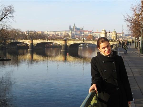Мост Легионов Прага набережная Влтавы
