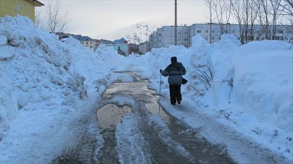 Снежная дорога вг. Кировск