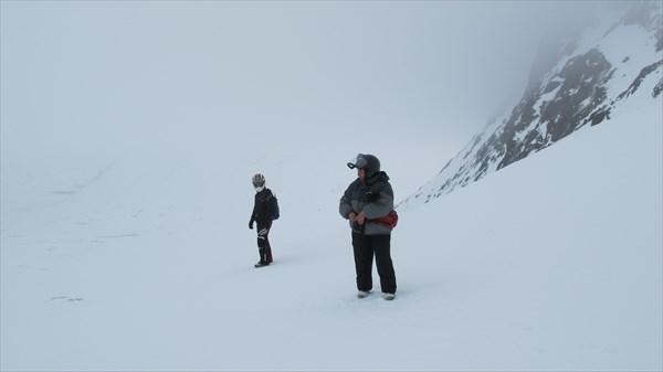 Долина реки Малая Белая вся в тумане