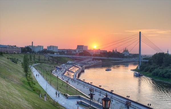 Набережная реки Тура
