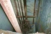 Вид на шахту лифта