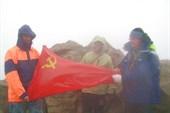 На вершине вулкана Эбеко
