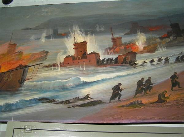 Курильский десант,картины С-Курильского музея