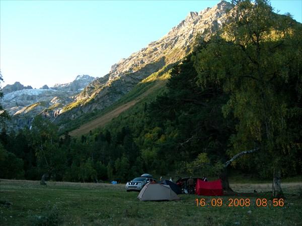 лагерь под горой София