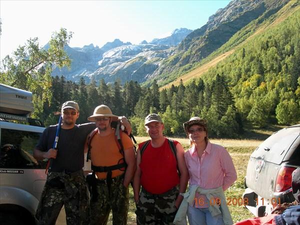 Перед подъемом к перевалу Иркиз