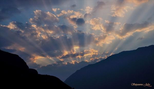 Закат в долине Чулышмана